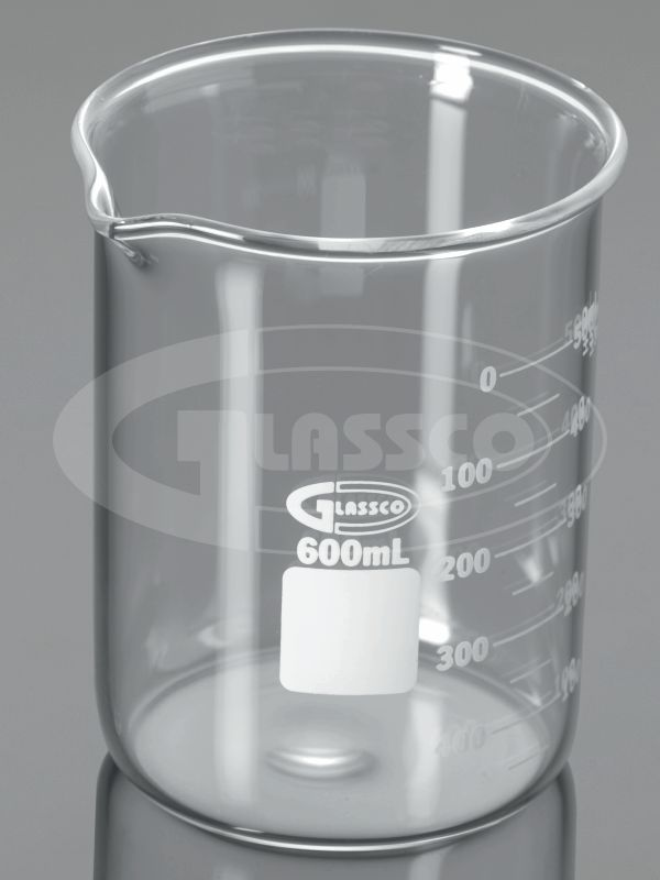 beaker low form heavy wall with double capacity scale