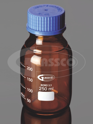 Reagent bottle amber color with screw cap