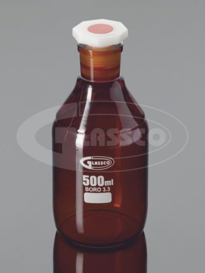 reagent bottle narrow mouth amber glass