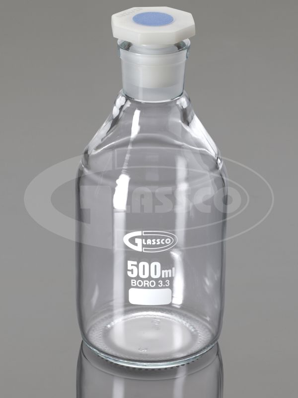 reagent bottle narrow mouth clear glass