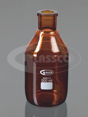 bottles tooled neck amber