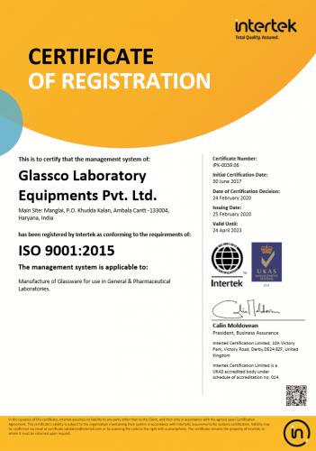 COR ISO 9001 2015